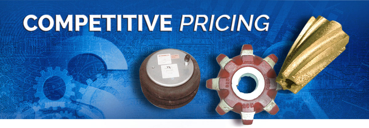 Competitive Pricing for Parts & Accessories
